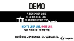 Demo zur Anhörung des BTHG